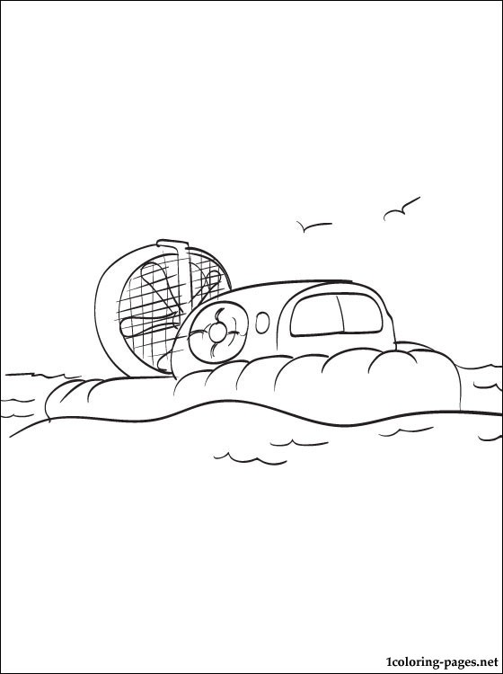 Hovercraft Coloring Page Coloring Pages