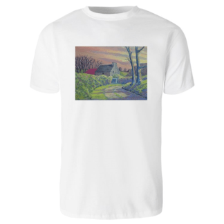 1create - T-shirt James O'Connell Irish Cottage - Mens White