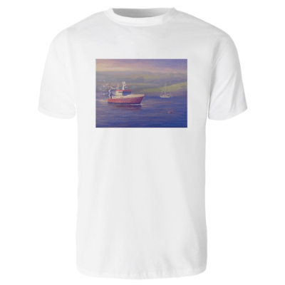 1create - T-shirt James O'Connell Red Boat - Mens White