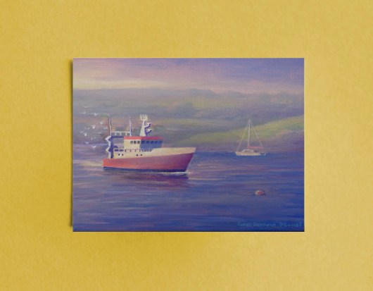1create - The Red Fishing Boat - Greeting card