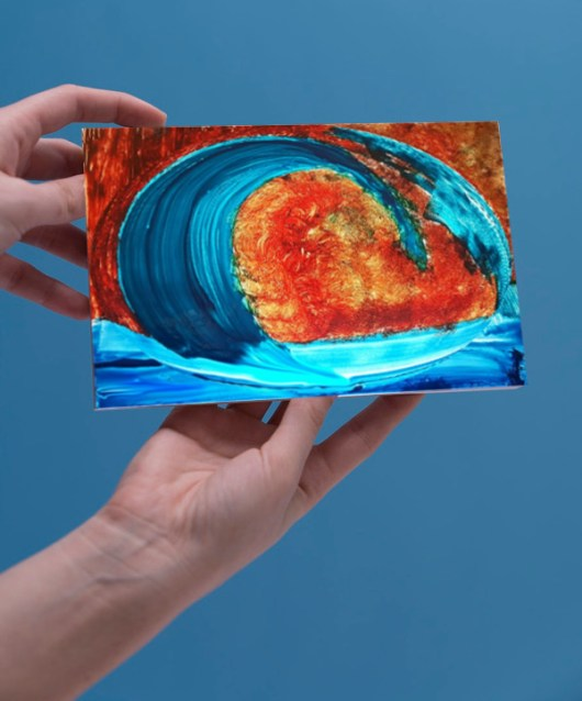 1create - greeting card sue waves
