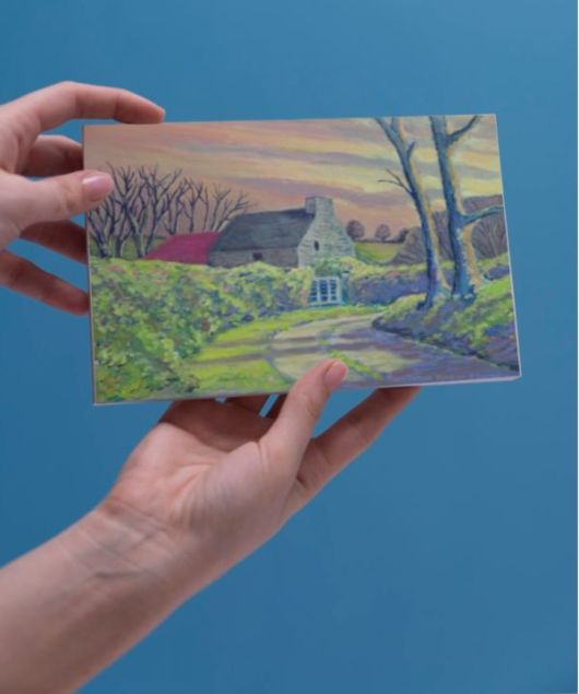 1create - greeting card Irish Cottage by james donovan o'connell