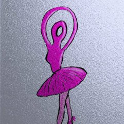 1create - Pretty In Pink Ballerina by Sue Caulfield