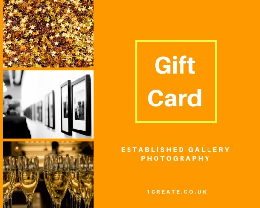 1create Gift Card - Established Photography Gallery