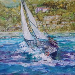 1create - Under Full Sail - ARC Flotilla 2018 - Rodney Bay - St Lucia by Patricia Thompson