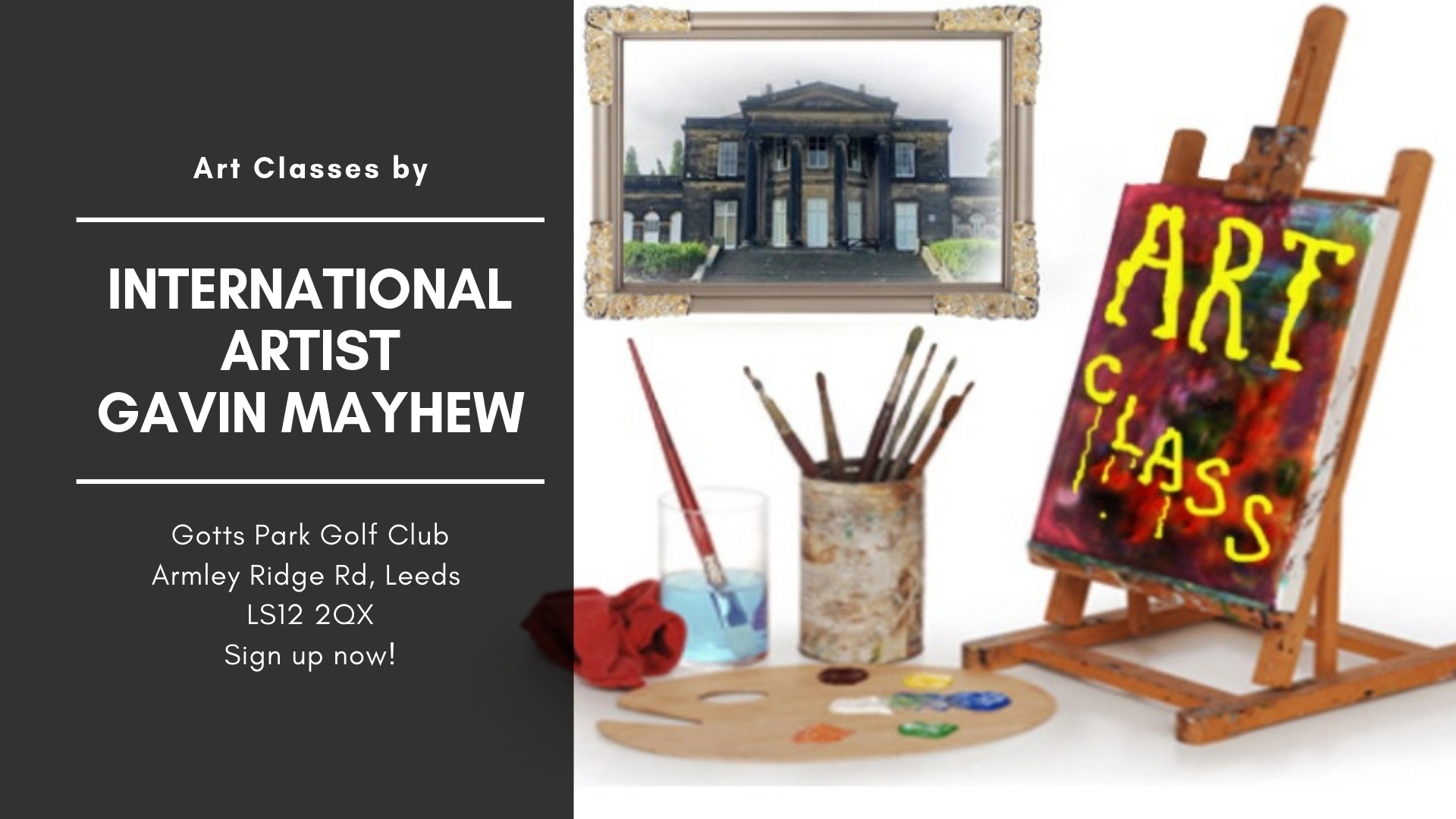 Art Classes in Leeds with international artist Gavin Mayhew