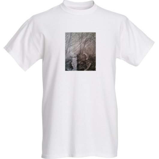 1create - t -shirt-1create -Waterfall-in-Forest