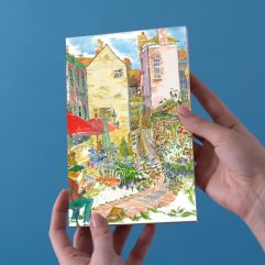 Greeting Card - Tea Room Garden by Patricia Thompson