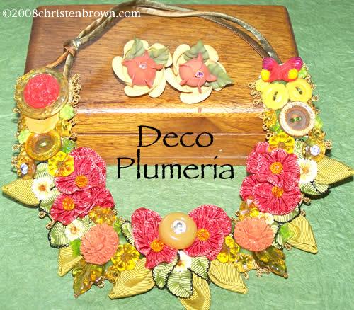 Deco Plumeria by Christen Brown