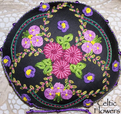 Celtic Flowers Pillow