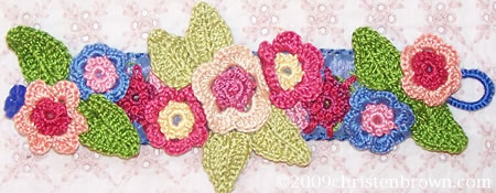 Andalusian Flower Fields- crochet bracelet