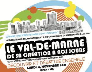 Affiche de la deuxième séance du séminaire Trajectoires Historiques du Val-de-Marne.