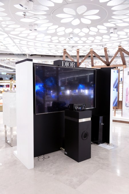 The shilla duty free joy by dior pop-up curated zone beauty&you hong kong international airport