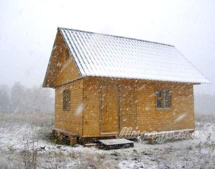 Внешний вид дачного дома 6 х 4 метра