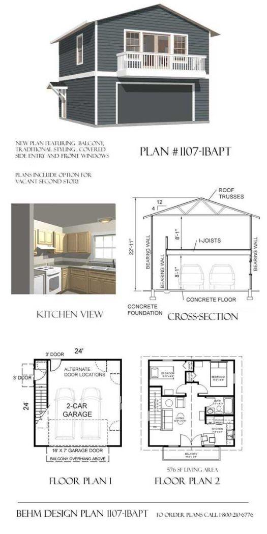 План проект двухэтажного гаража