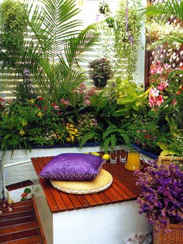 дизайн на лоджии сад