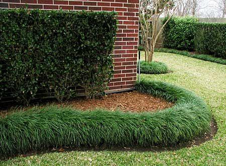 Бордюр из травы