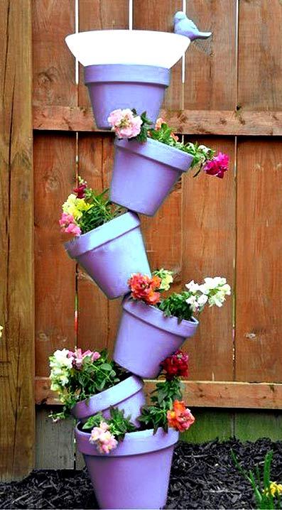 цветочная стойка из кашпо