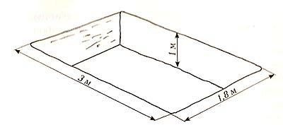 чертеж простого прямоугольного бассейна