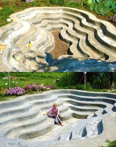 Как сделать большой бассейн на даче