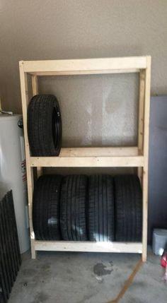 Стеллаж стойка для хранения шин в гараже