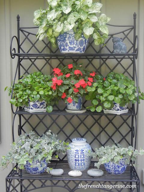 Металлический стелллаж для цветочных кадочных растений