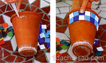 как украсить кашпо своими руками