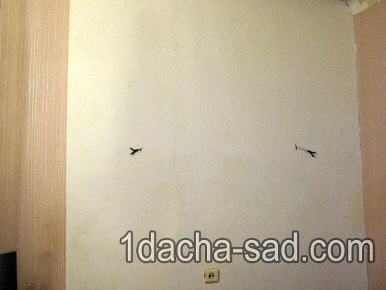 Стена перед отделкой