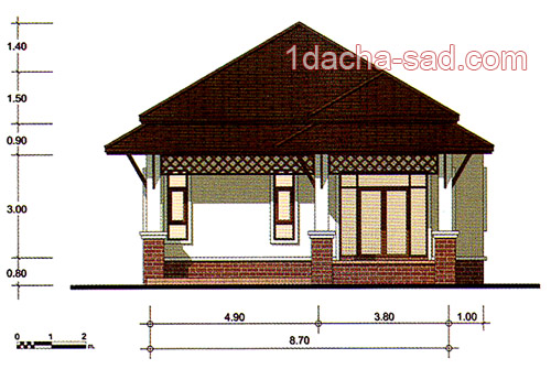 проект дома 3 комнаты