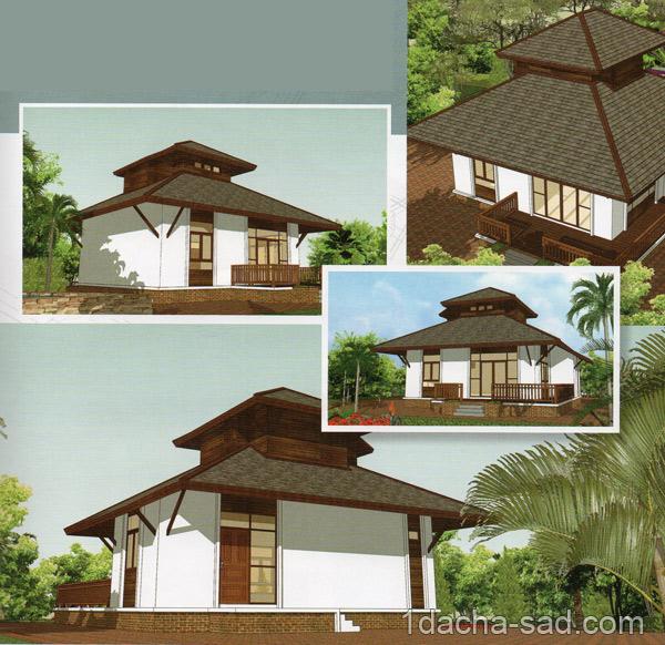 Проект дома 8 х 8 с мансардой