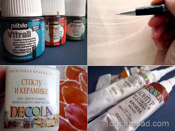Контуры и витражные краски