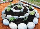 идеи для клумб из камней