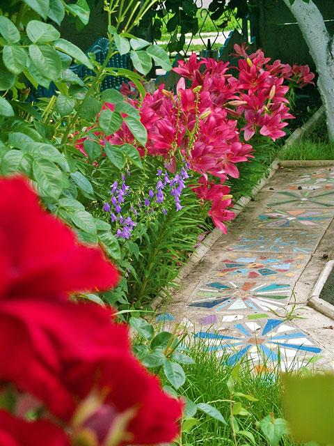 Красивые дорожки из мозаики