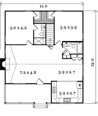 проект каркасного дома чертеж