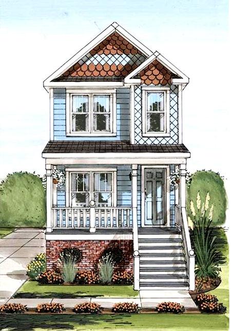 проект узкого длинного дома