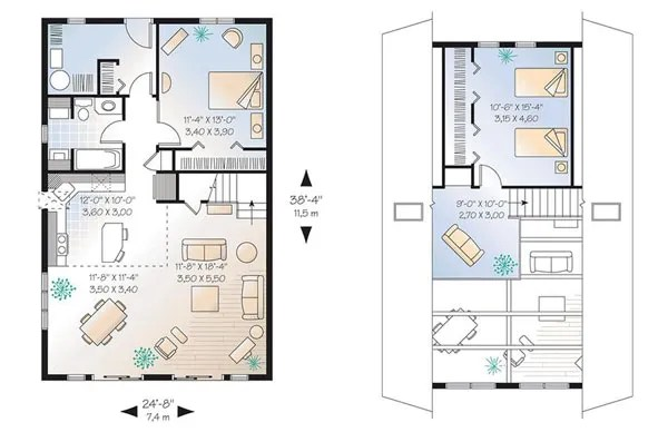 проект дома в стиле шале план
