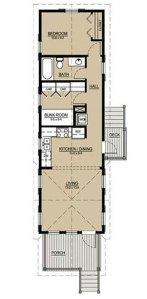 проект дома для узкого участка 1