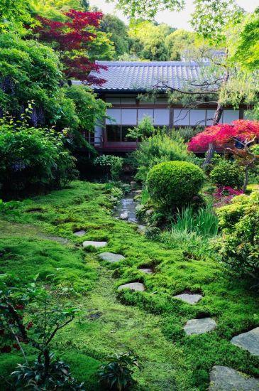 Пример оформления японского сада на даче