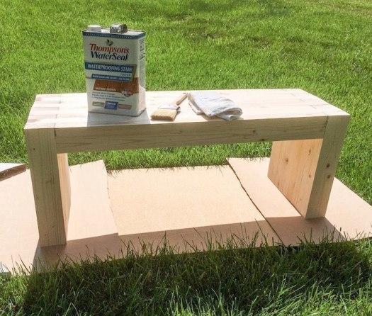 Скамейка из дерева для дачи своими руками