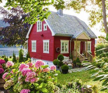 красивые дачные домики и сад фото