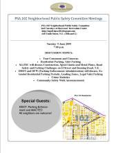 PSA 102 Flyer June Meeting 060909