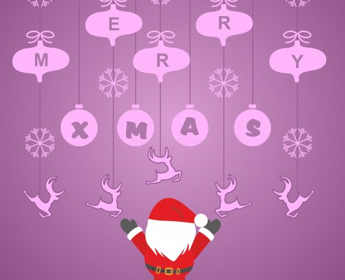 Merry Christmas with Santa background