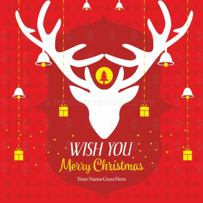 05 UNIQUE MERRY CHRISTMAS GREETING TEMPLATES