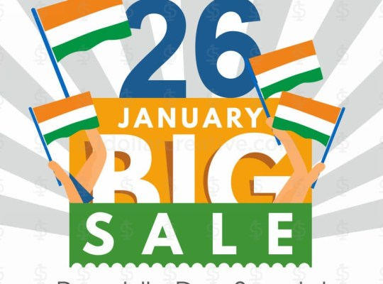 Republic Day Big Sale Greeting