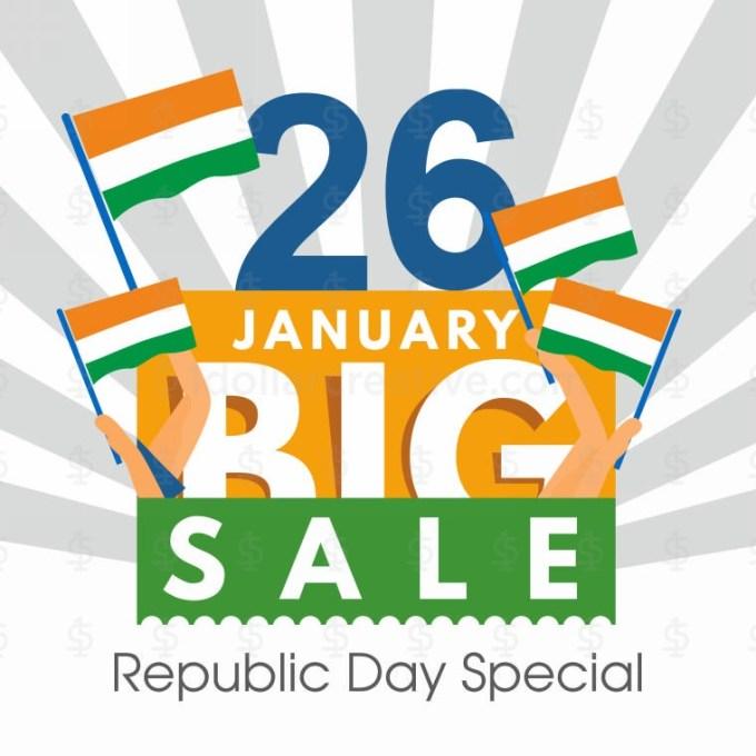 Republic Day Big Sale Greeting