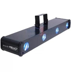 Lichtset 4 kops multi LEDbar op statief met T-bar gekleurde dotten