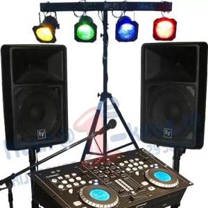 DJ-set deejay apparatuur par56 par64 active luidsprekers revo