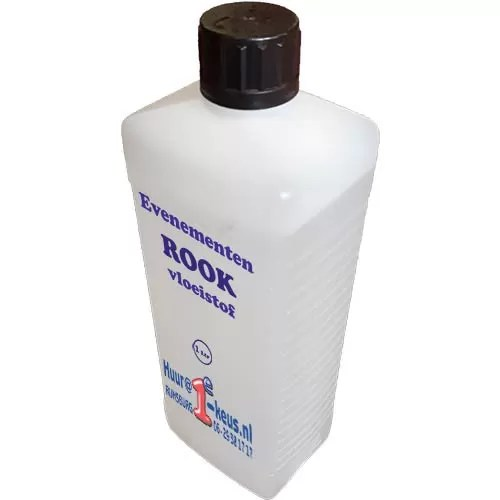 Fog fluid, rookvloeistof met of zonder geur per liter