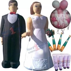 Trouwen? van opblaasbaar bruidspaar tot confetti en ballonnen
