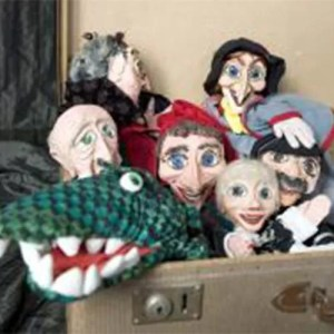 De poppen van het poppentheater voor poppenkast show